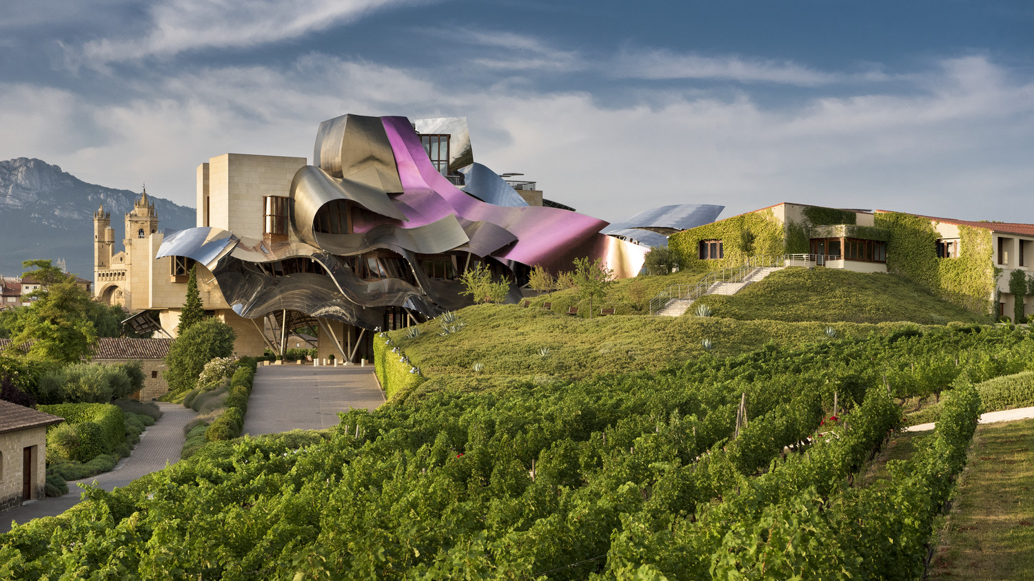 Winegrowing tradition and avant-garde art: luxury, vineyards and relaxation