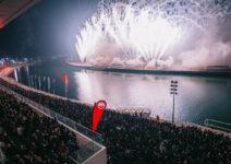 La mascletà vertical más alta de la historia encendió el cielo de València en la 'Amstel Nit de les Falles'