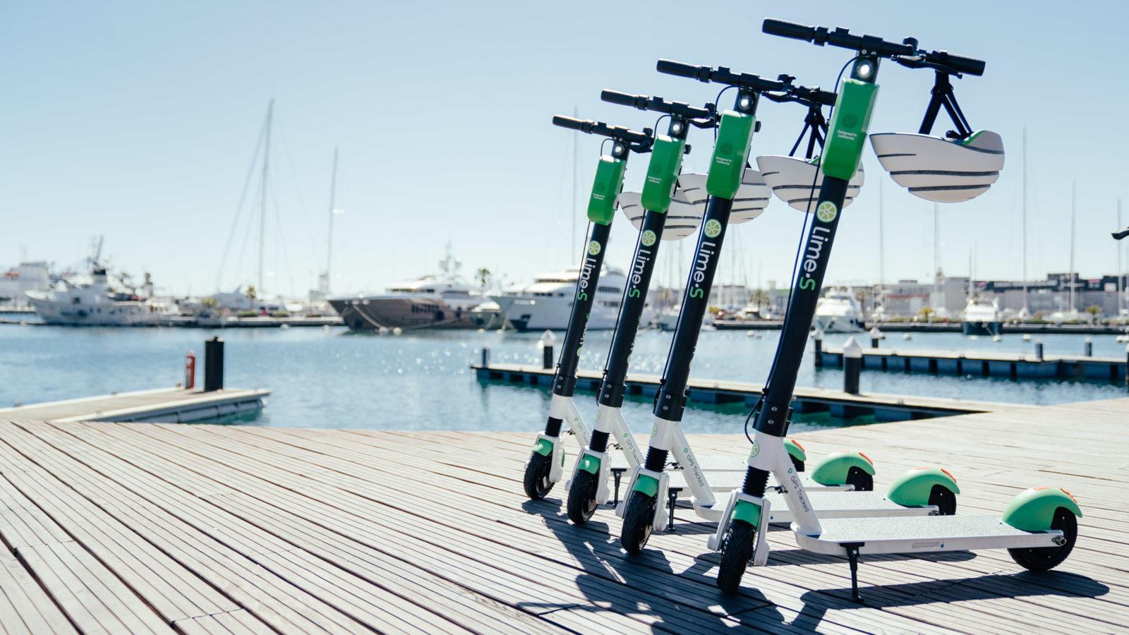 Lime despliega su servicio de patinetes en La Marina de València