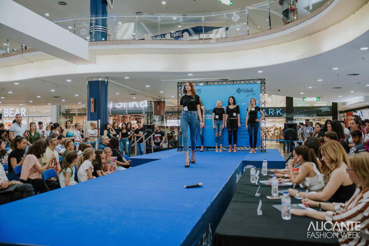El casting de modelos de Alicante Fashion Week reunió a aspirantes de toda España en centro comercial L ́Aljub