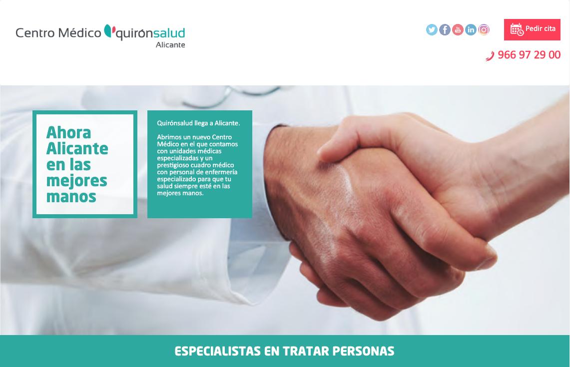 """Quirónsalud Alicante начинает кампанию """"В лучших руках"""""""