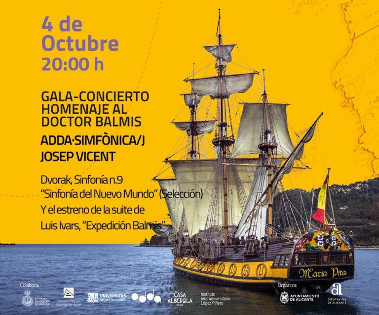 ADDA Simfònica estrena la suite 'Expedición Balmis' en un concierto gratuito en homenaje al insigne médico alicantino