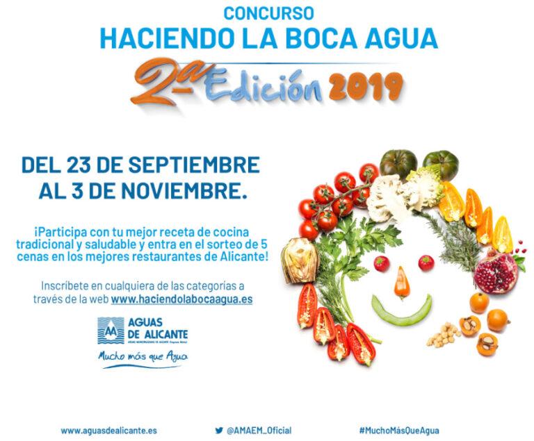 """Aguas de Alicante lanza el concurso de recetas de cocina """"Haciendo la boca agua"""""""